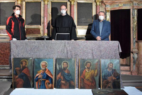 Apostelbilder in der Klosterkirche Schönau